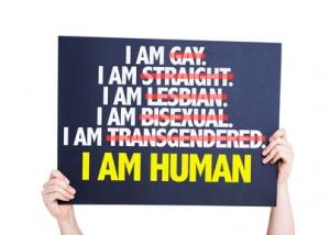 I am Gay/Straight/Lesbian/Bisexual/Trans I am Human card