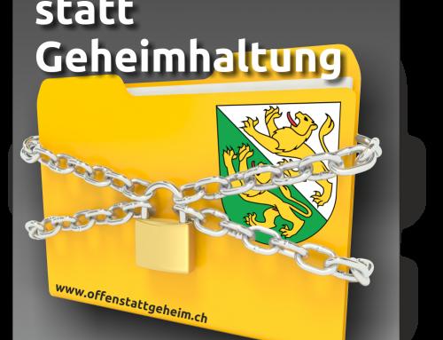 Thurgauer Regierung will kein Öffentlichkeitsprinzip